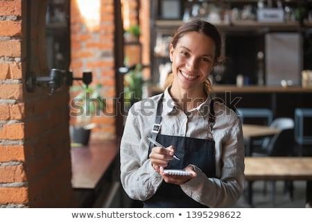 Emotional waitress. Stock photo © Fisher