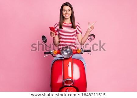 Motor шоу довольно девочек автомобилей красивой Сток-фото © jossdiim