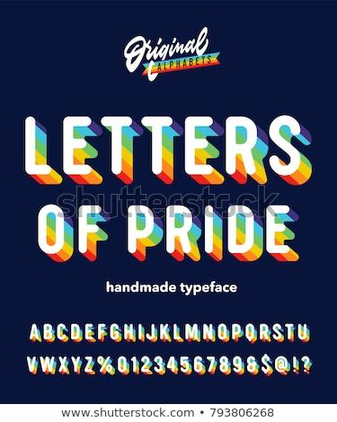 Homossexual fonte arco-íris cartas alfabeto sexo Foto stock © MaryValery