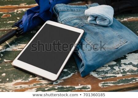 View jeans guanti ombrello Foto d'archivio © wavebreak_media