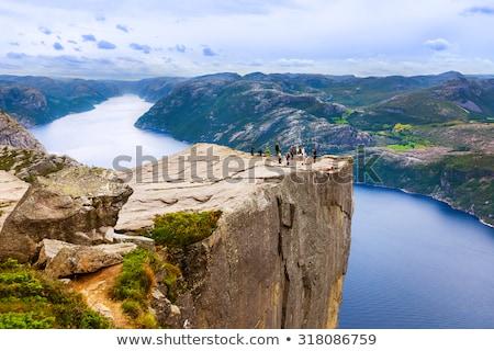 Wodospad skał chmury lasu charakter krajobraz Zdjęcia stock © compuinfoto