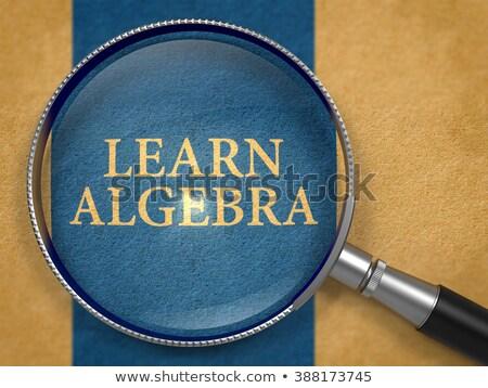 Learn Algebra Concept through Magnifier. Stock photo © tashatuvango