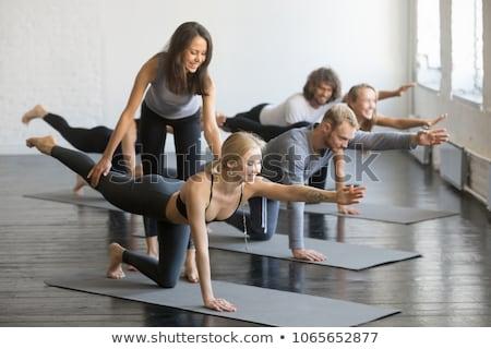 Jogi instruktor student klub zdrowia Zdjęcia stock © wavebreak_media