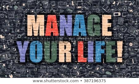 control your life in multicolor doodle design stock photo © tashatuvango