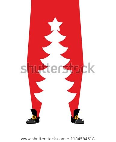 Papai noel árvore de natal alto enfeitar pernas Foto stock © popaukropa