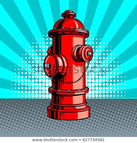 fire hydrant retro style Stock photo © tracer