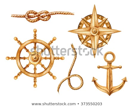 сSet of gold anchors Stock photo © blackmoon979