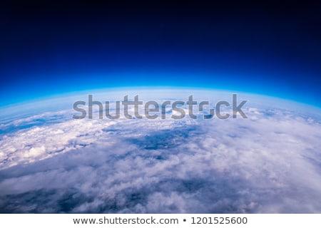 Atmosfeer aarde wereldbol zonsondergang ontwerp achtergrond Stockfoto © mechanik