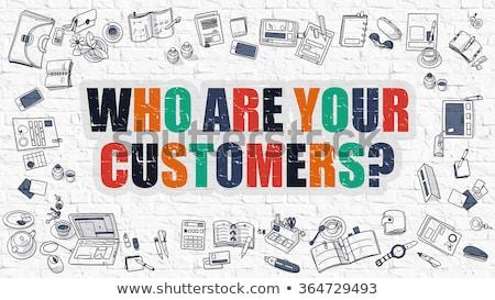 gelişen · müşteri · bağlılık · karalama · dizayn · simgeler - stok fotoğraf © tashatuvango