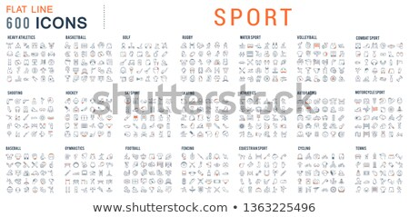 Esportes atletismo ícones linha projeto Foto stock © Genestro