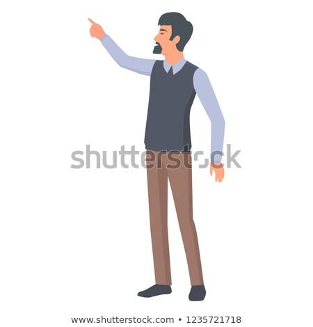 Man baard officieel stijl doek punten Stockfoto © robuart