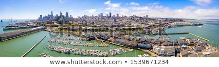 Pier San Francisco bandeiras Califórnia EUA bandeira Foto stock © dirkr