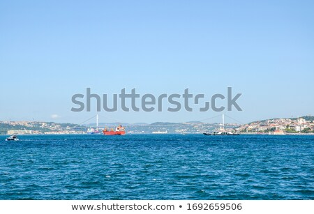 Panoramic view of the city of Istanbul in the distance Stock photo © artjazz