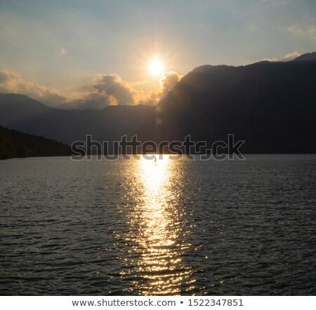 lago · Slovenia · bella · tramonto · cielo · foresta - foto d'archivio © stevanovicigor