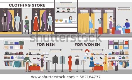 Sastre tienda banner coser escritorio Foto stock © studioworkstock