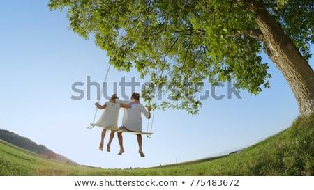 éolienne · soleil · au-dessous · bleu · énergie - photo stock © is2