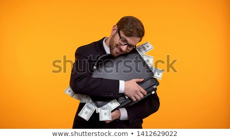 Aktatáska tele pénz pénzügy történelem üzlet Stock fotó © IS2