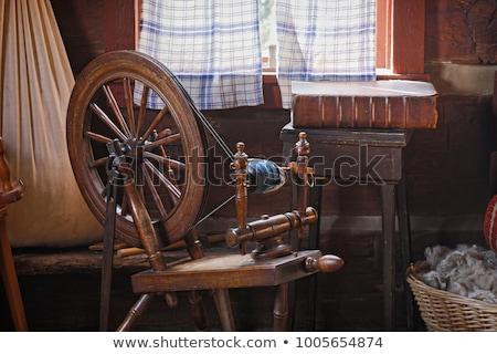 antique spinning machine Stock photo © devon