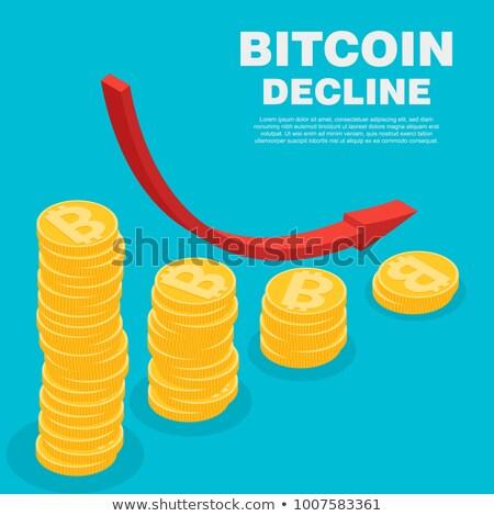 Gráfico caída disminuyendo negocios dinero Foto stock © Valeriy