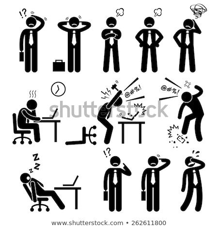 作業 スティック セット 4 漫画 従事 ストックフォト © blamb