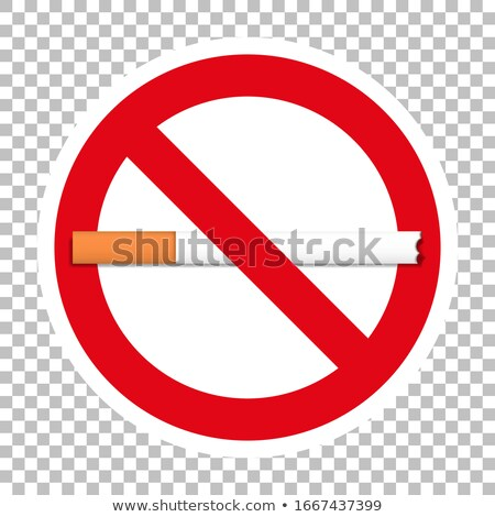 cigarette forbid sign on transparent Stock photo © romvo