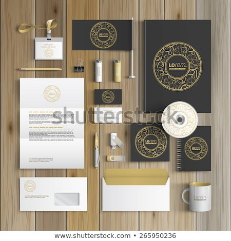 Corporativo identidade conjunto floral templates Foto stock © lissantee