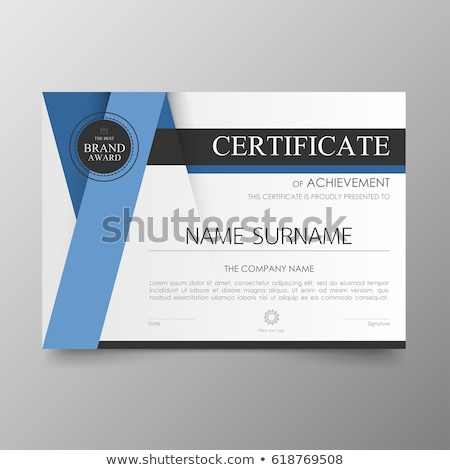 Modern certificate template Stock photo © orson