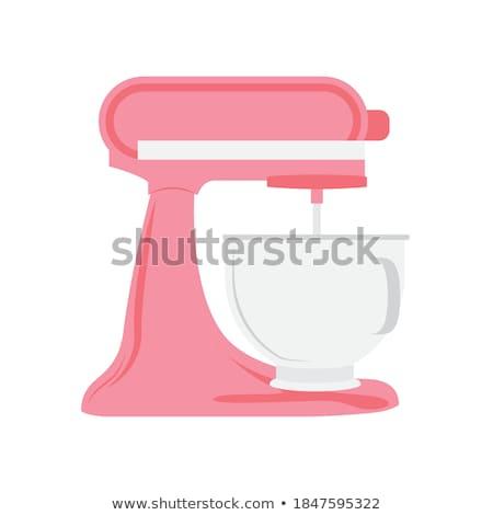 Mezclador blanco fondo cocina objeto plata Foto stock © restyler