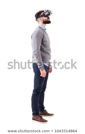 teljes · alakos · vonzó · férfias · férfi · izolált · fehér - stock fotó © minervastock