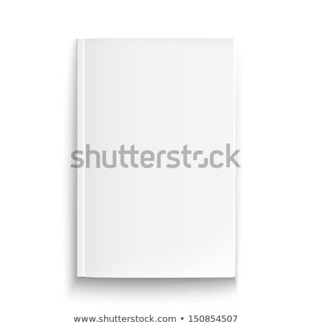 Branco folheto cobrir modelo isolado cinza Foto stock © daboost