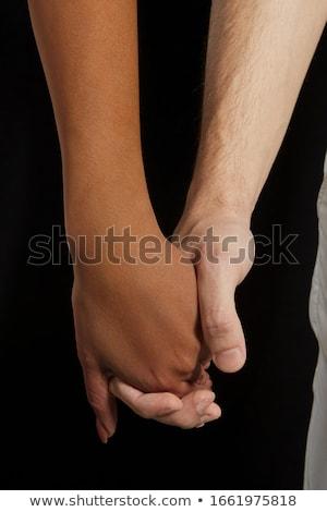 Vrouw mannelijke hand handelen geweld Stockfoto © boggy