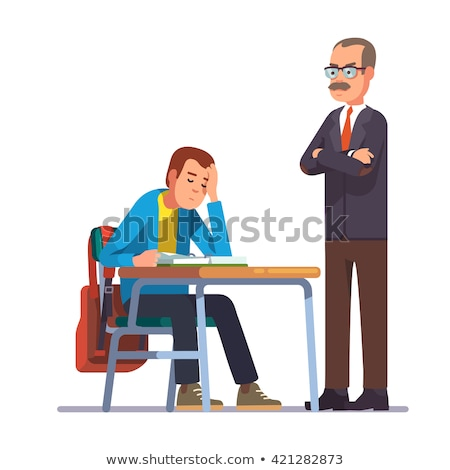 maschio · studente · dormire · desk · libro · giovani - foto d'archivio © pikepicture