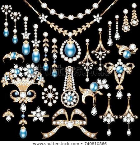 ювелирные набор ожерелье драгоценный синий камней Сток-фото © robuart