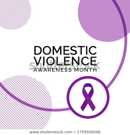 Púrpura cinta violencia mujeres primer plano jóvenes Foto stock © nito