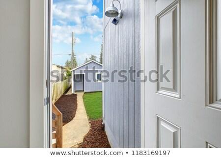 オープンドア 戻る 表示 1 車 ガレージ ストックフォト © iriana88w