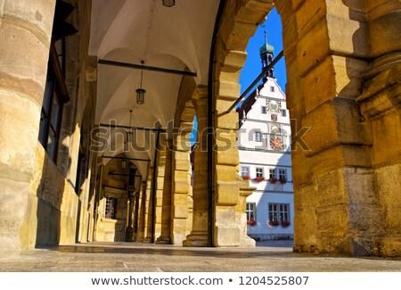 rothenburg town hall arcades and councillors tavern stock photo © lianem