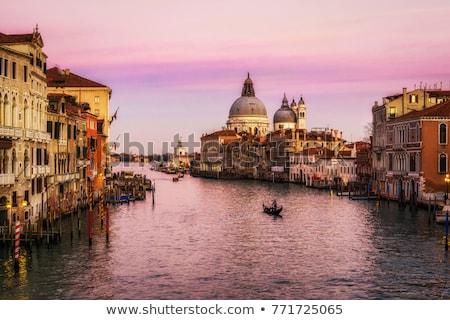 表示 橋 アカデミー ボート ヴェネツィア 空 ストックフォト © Givaga