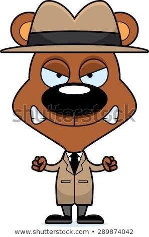 Cartoon boos detective beer naar Stockfoto © cthoman