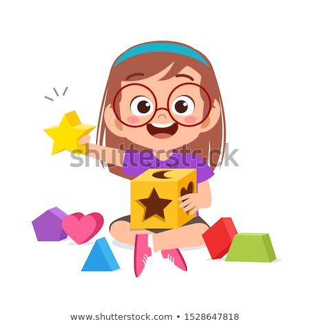 Crianças jogar ábaco ilustração escolas projeto Foto stock © bluering