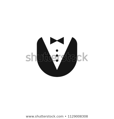 Label design with male butler Stock photo © colematt