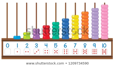 Abacus Toy Vector. Colorful Education Icon. School, Mathematics. Isolated Flat Cartoon Illustration Stock photo © pikepicture
