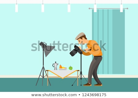 Photographer Making Shot of Still Life Composition Stock photo © robuart