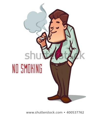 helpen · stoppen · roken · sigaret · gebruikt · vorm - stockfoto © ra2studio