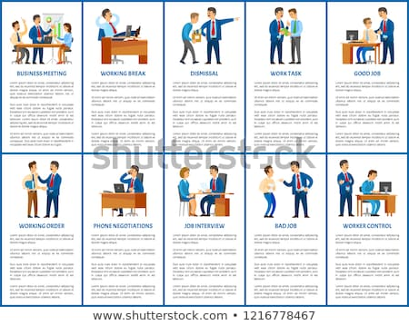 job interview work task dismissal vector poster stock photo © robuart