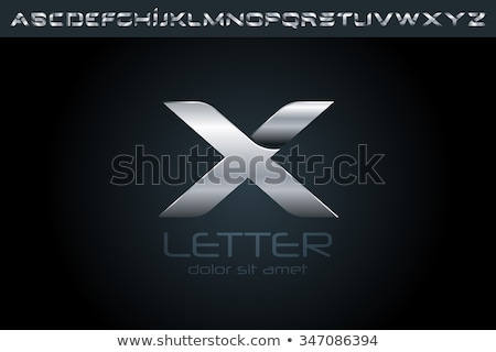letter x logotype set vector x Stock photo © blaskorizov