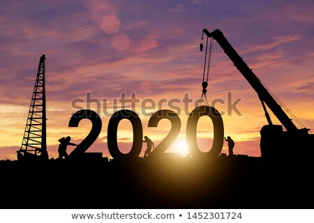 3d people working year 2020 Stock photo © ribah