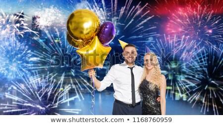 oro · buon · compleanno · palloncini · 3D · isolato · bianco - foto d'archivio © dolgachov