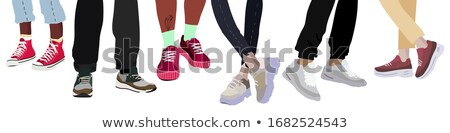 Set of different coloured pants Stock photo © bluering