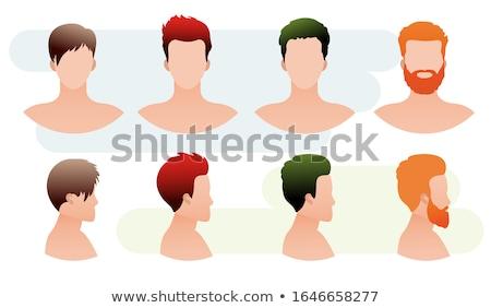 セット · ベクトル · スタイル · 文字 · 理髪 · 男 - ストックフォト © bonnie_cocos