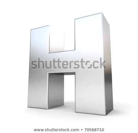 Chrome police coloré réflexions lettre h 3D Photo stock © djmilic
